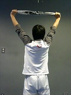 タオルで筋トレ 肩 タオルショルダープレス 4